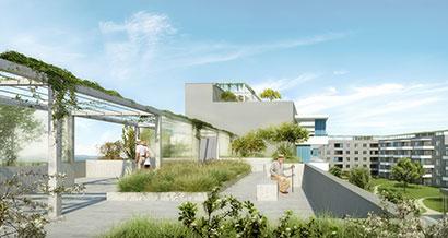 3DKRAFTWERK visualisierung winterthur waesserwiesenstrasse dachgarten