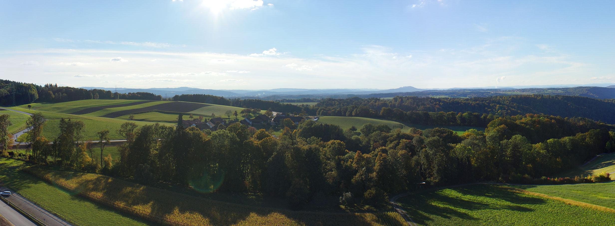 Drohne Luftaufnahmen Winterthur Kyburg Panorama 2