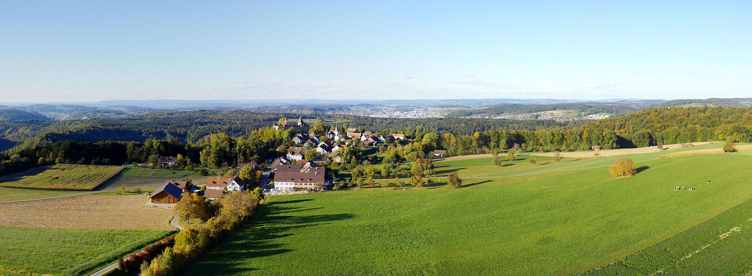 Luftaufnahmen Winterthur Kyburg Panorama