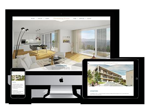 Immobilienvermarktung tool Wedesignvorlage 3DKraftWerk elegance