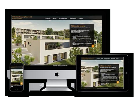 Immobilienvermarktung tool Wedesignvorlage 3DKraftWerk modern