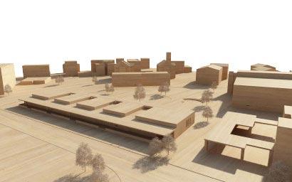 3DKRAFTWERK architekten winterthur kiga heerbrugg situationsmodell-th