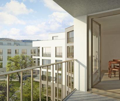 3DKRAFTWERK visualisierung architektur wohnuueberbauung herdern hof