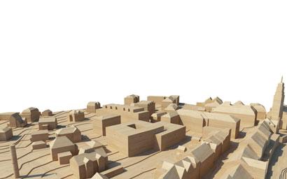 3DKRAFTWERK architekten winterthur Regierungsviertel Frauenfeld Holzmodell
